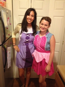 I just had to show off our Disney aprons.